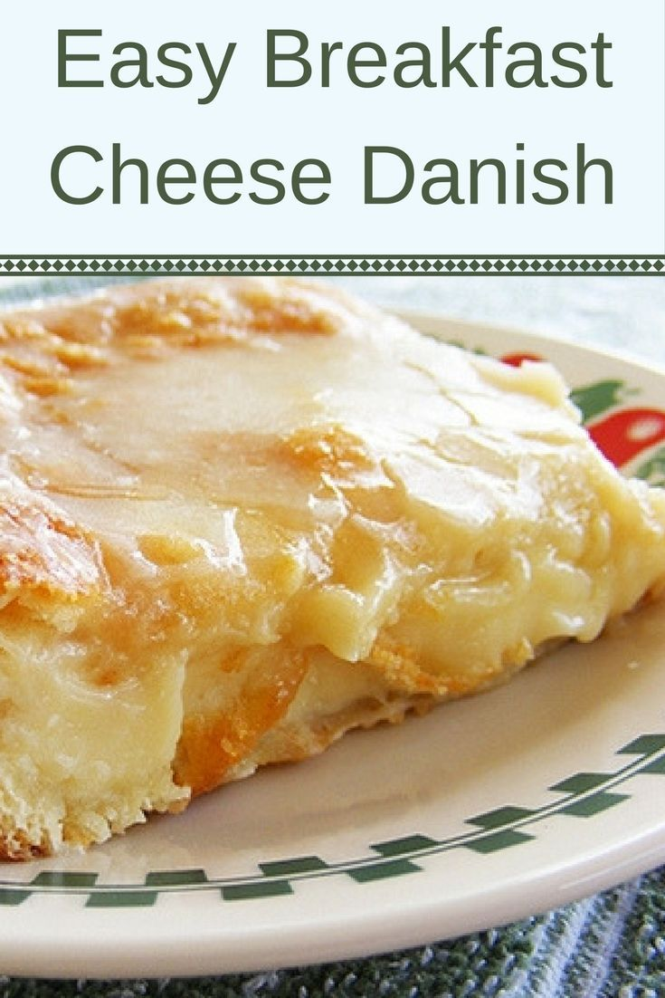 Super easy breakfast cheese danish made with puff pastry and cream cheese.