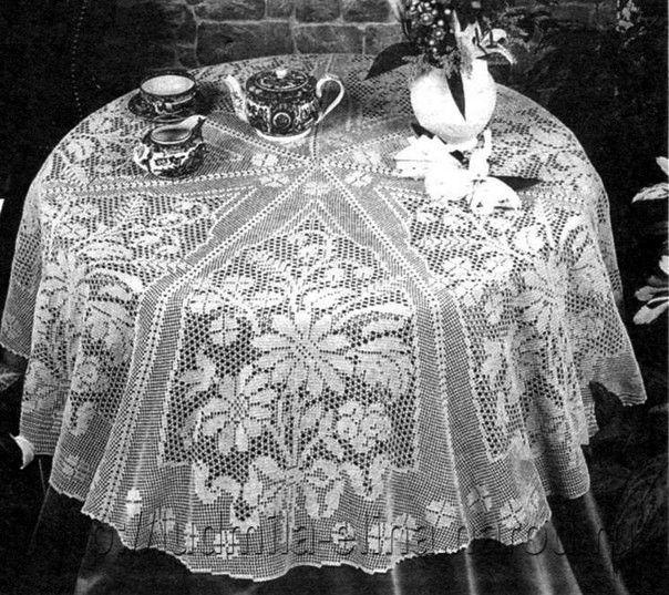 21 mejores imágenes de manteles en crochet en Pinterest   Tapetes de ...