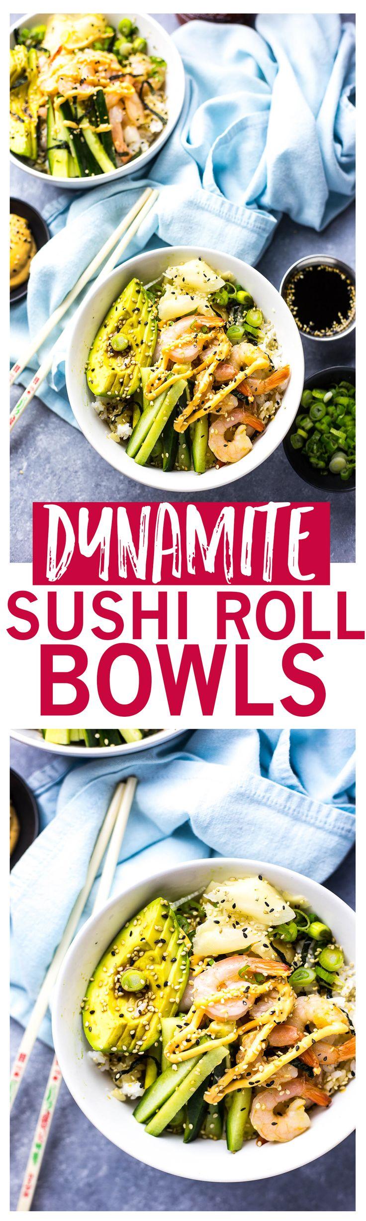 Shrimp Dynamite Sushi Bowls | Healthy 20-minute grain bowl | Gluten free
