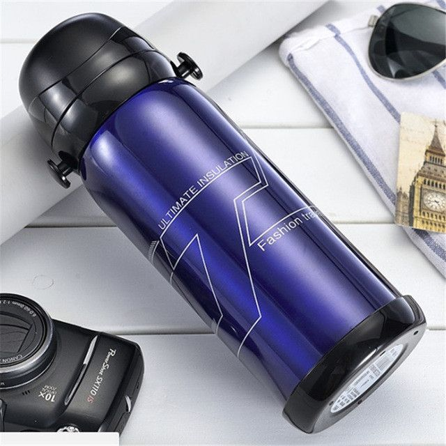800 ml Stainless Steel Vacuum Flask Insulated & Cold Water Thermos water bottle Travel water flask Free shipping