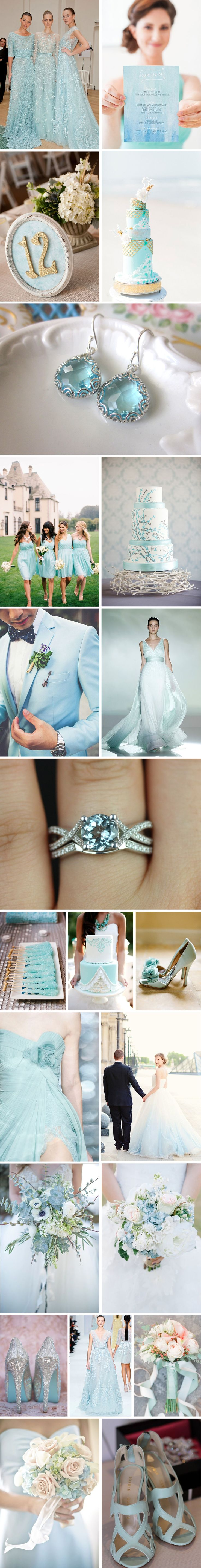 aquamarine wedding color inspiration #FeltNoir #Aquamarine #MarchBirthstone
