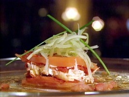 Smoked Wild Irish Salmon Millefeuille : Recipes : Cooking Channel