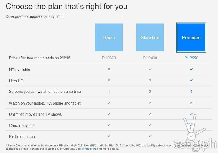 Netflix Philippines price / streaming plans