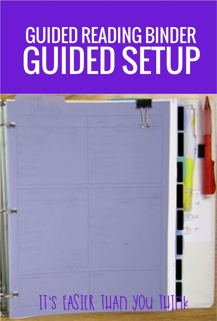 I could follow these steps to create my own Guided Reading Binder - this Guided Setup seems just right.