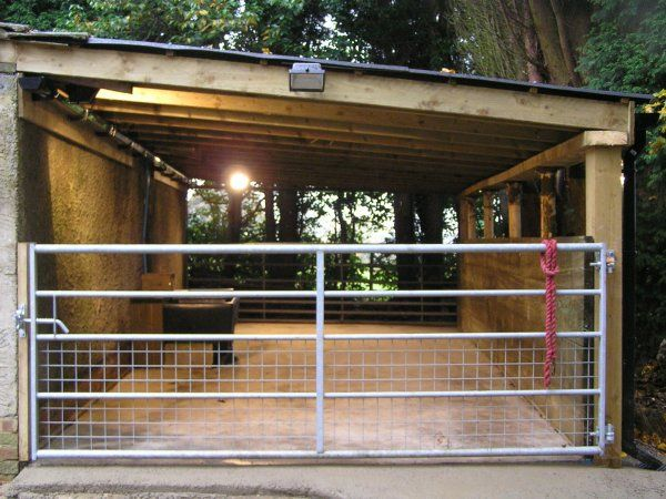 would put a gate at either side and have it as the entrance to the horse field so they can't run out.