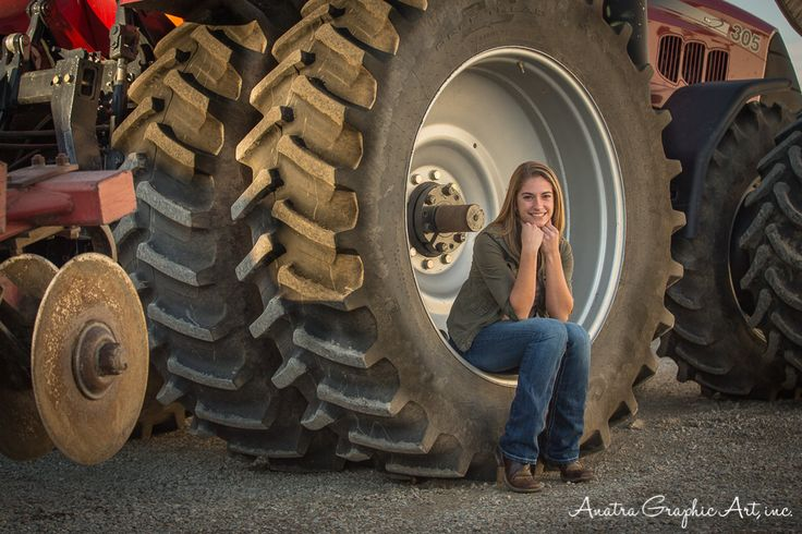 Case ih tractor senior picture