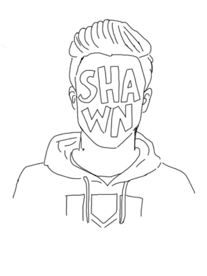 Shawn Mendes Pages Coloring Pages