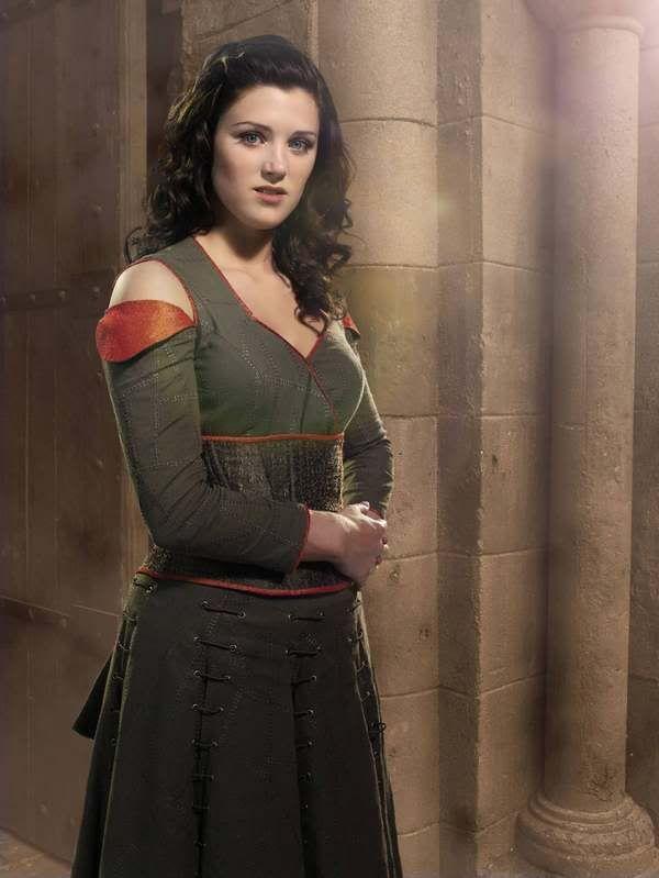 BBC Robin Hood ~ Marian's Green and Orange Dress