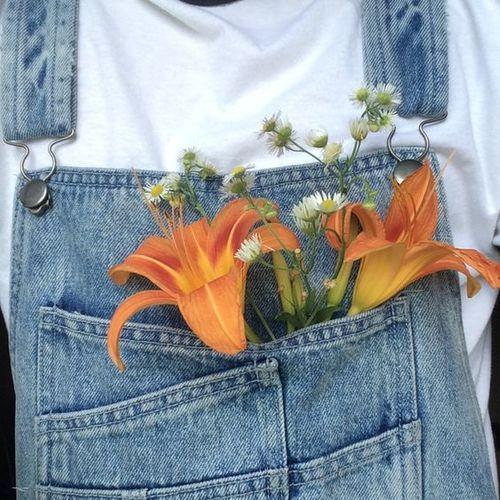 Imagem de flowers, orange, and aesthetic