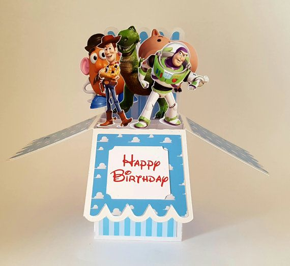 Toy Story Personalised Card Badge Birthday 2nd 3rd 4th 5th 6th Etsy Happy Birthday Drawings Pop Up Box Cards Card Box