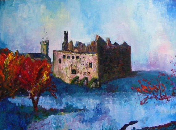 Linlithgow Palace print from an original painting by Pamela