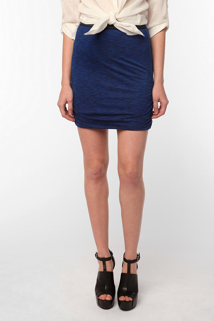 UO Silence & Noise Side Ruched Knit Skirt