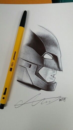 배트맨 볼펜화 Batman ballpoint pen art!