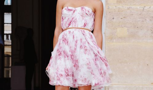 great summer dress!: Pink Flowers, Summer Dresses, Christian Dior, Dresses Shoes, Fashion Week, Jessicaalba, Jessica Alba, The Dresses, Floral Dresses