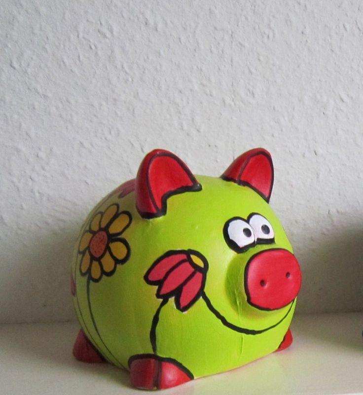 Beschilderd spaarvarken(2) jeannette van welie