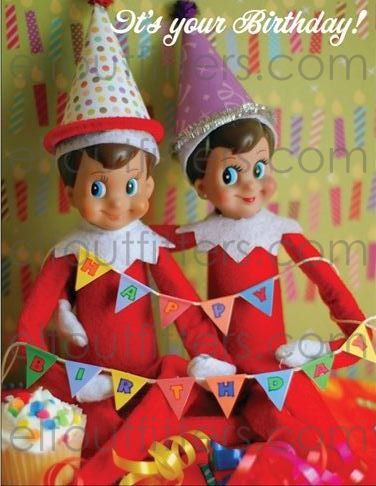 Elf Happy Birthday Postcard  Elf Outfitters by ElfOutfitters, $3.00