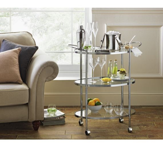 Buy Heart of House 3 Tier Chrome and Glass Drinks Trolley at Argos.co.uk, visit Argos.co.uk to shop online for Kitchen trolleys, Kitchen storage, Cooking, dining and kitchen equipment, Home and garden