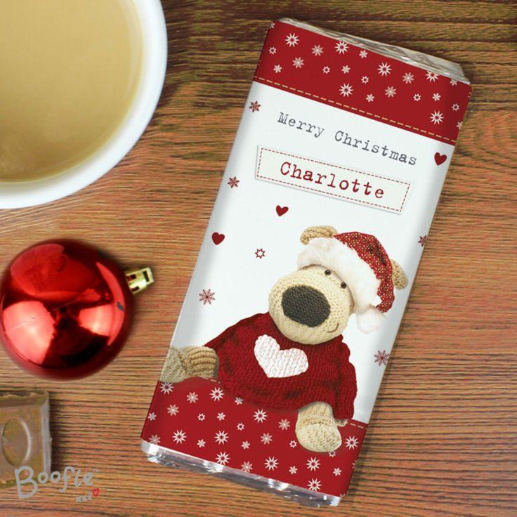 Personalised Boofle Christmas Chocolate Bar