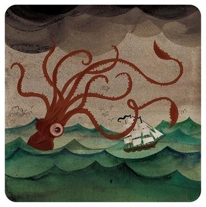 love octopus: Giantsquid, Bobs Thompson, Art Prints, Dan Thompson, Illustration, Sea Monsters, Octopuses, Dan Bobs, Giant Squid