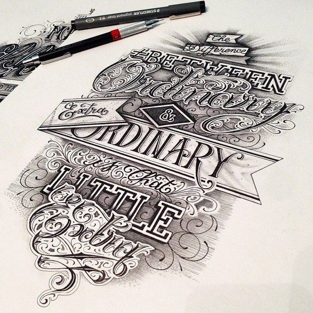 The extraordinary details add depth and vintage aura to the words, very inspirational and amazingly done.