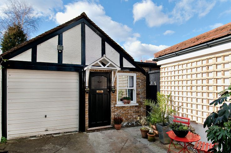 We got rid of the garage door, sourced an old Victorian door and a door canopy... This garage because a cute mini cottage/studio adjacent to the main property. Ideal for an aupair or a student at uni1