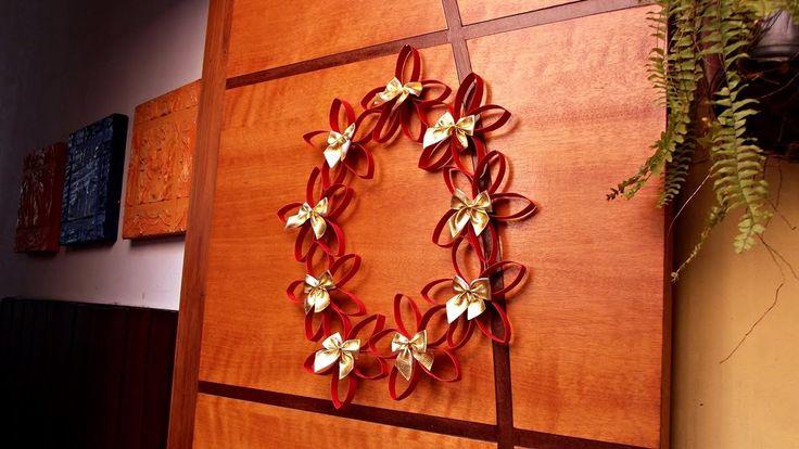 DIY - Guirlanda de flores - Especial Natal