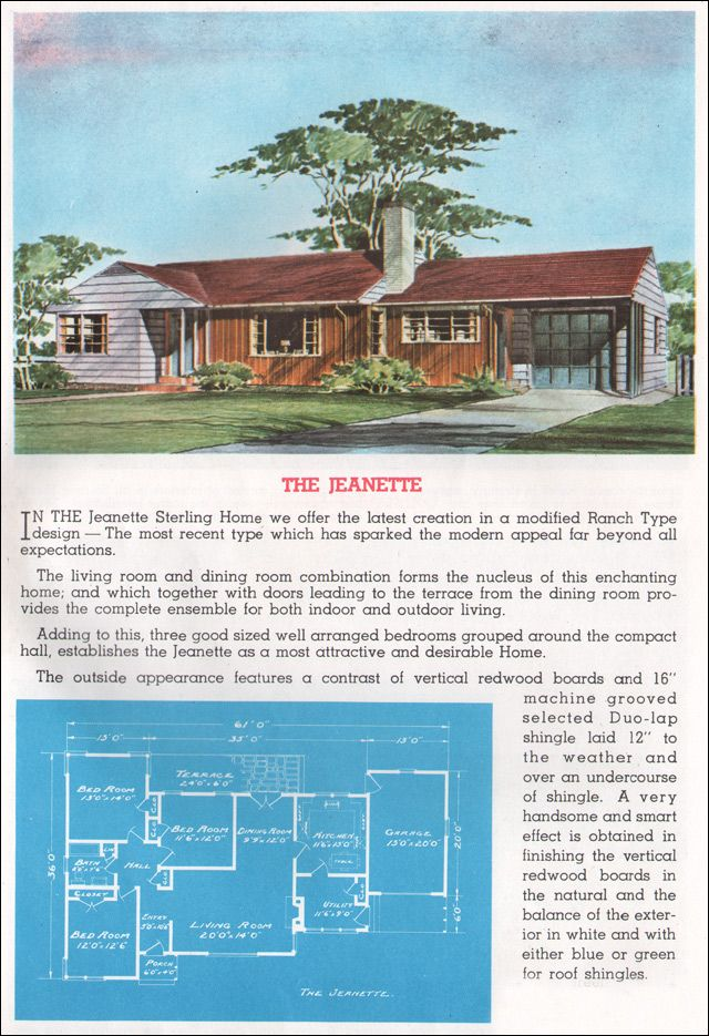 1962 Sterling Homes   The Jeanette