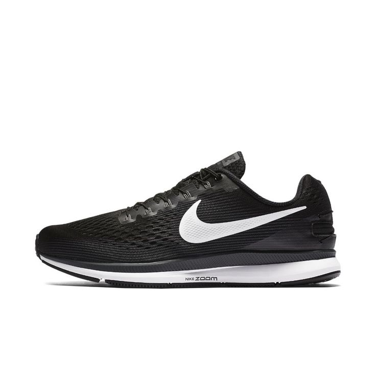 Nike Air Zoom Pegasus 34 FlyEase Men's Running Shoe (Extra-Wide) Size 11.5 (Black)