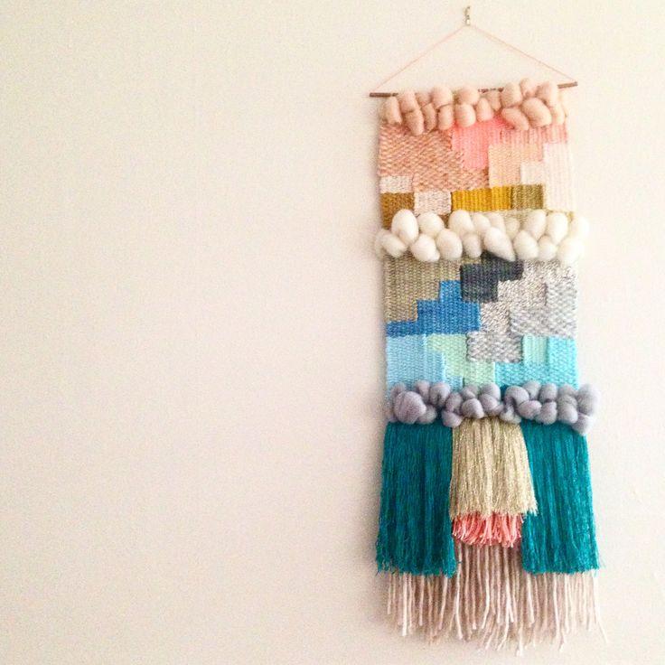 Weaving / woven wall hanging by Maryanne Moodie Www.maryannemoodie.com