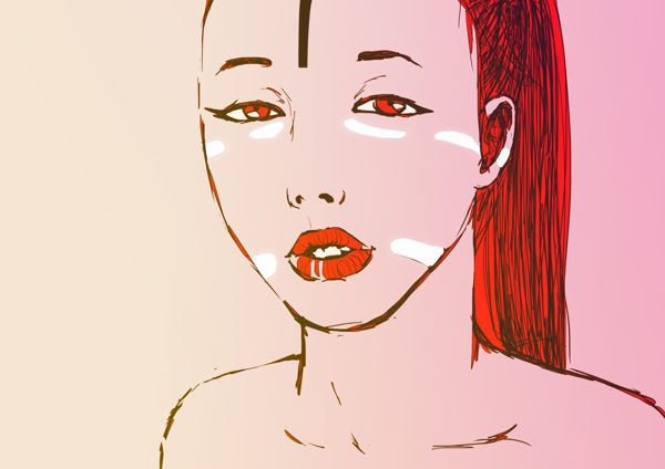 The Red Girl by Mushua , via Behance