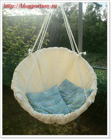 Hammock swing diy- all in Russian, but the idea is pretty clear