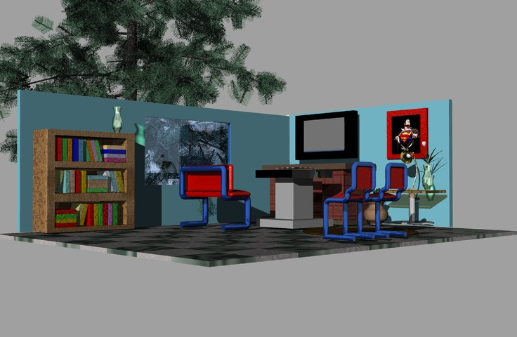 Diseño sala 3D