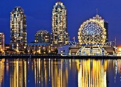 Drapacze Chmur, Vancouver, Noc, Telus World Of Science