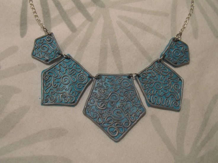 winter magic blue and silver necklace #winter #flower #clay https://porteka.com/hu/listings/839-kek-ezust-indas-nyaklanc