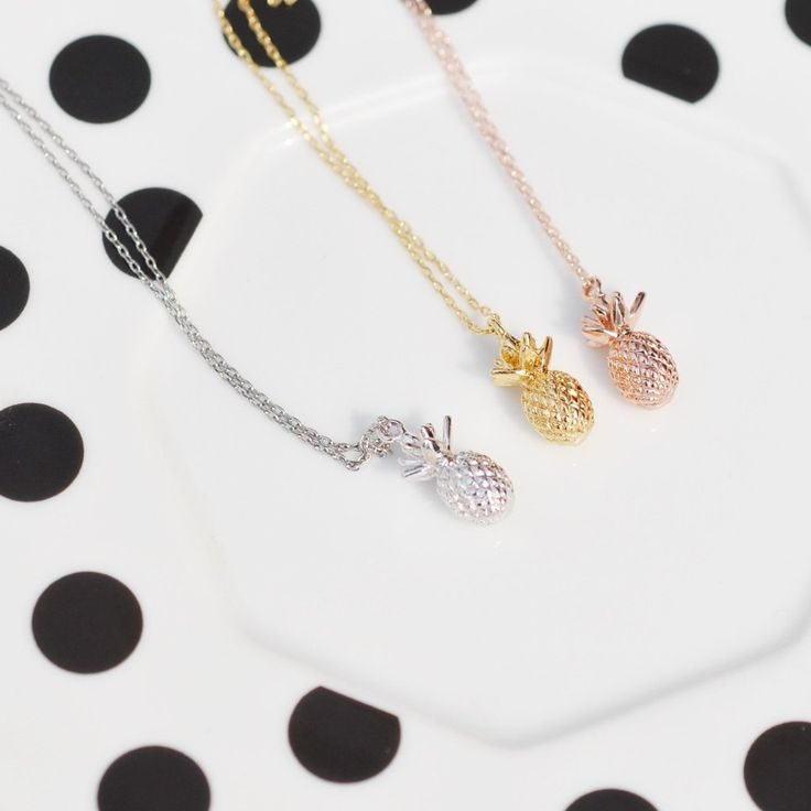 Majolie  - Passion Ananas Rose Gold Necklace -   - 1