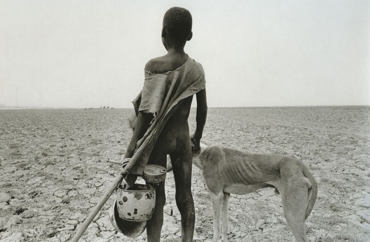 """""""Sahel: The End of the Road"""" - 1984, war & worst drought recorded in history killed 1 million people in the  Sahel region of Chad, Ethiopia, Mali, and Sudan, Africa -  Sebastião Salgado"""