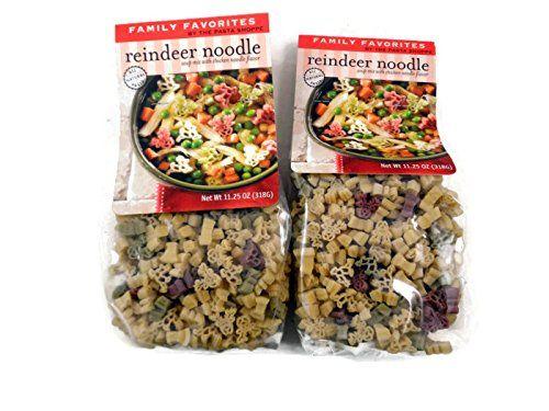 Reindeer Noodle Soup Chicken Noodle Soup Mix -Reindeer Shaped Pasta - 2 Packages The Pasta Shoppe http://smile.amazon.com/dp/B00NW5Q27A/ref=cm_sw_r_pi_dp_QPIQwb0NJD89P