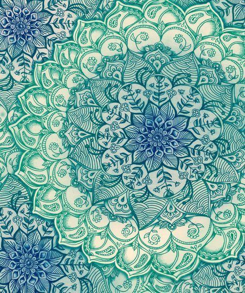 azul, celeste, fondos, imagenes, mandalas