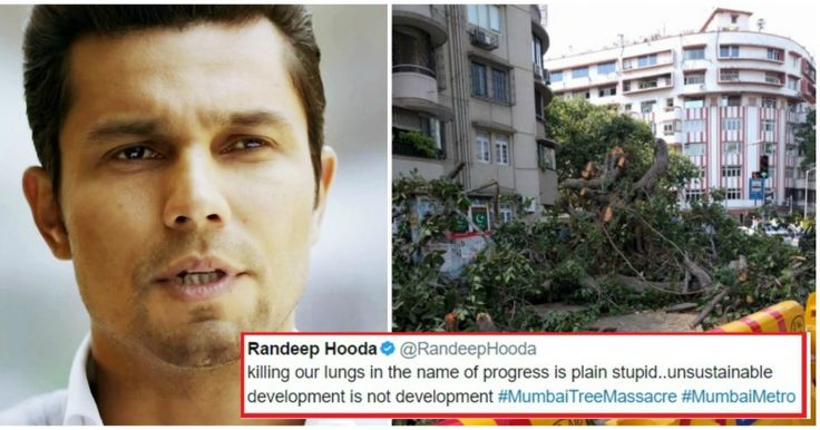 Randeep Hooda Hates The Decision To Cut Down 100-Year-Old Trees For Mumbai Metro http://indianews23.com/blog/randeep-hooda-hates-the-decision-to-cut-down-100-year-old-trees-for-mumbai-metro/