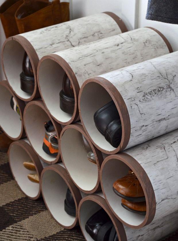 10 ideias para decorar e organizar com tubos ou canos de PVC.