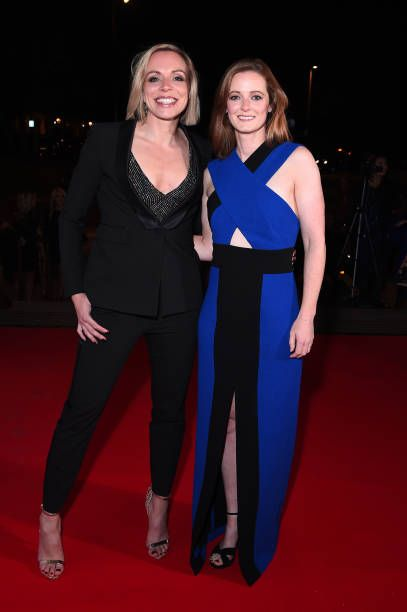 Kate Richardson-Walsh and Helen Richardson-Walsh attend the Team GB Ball at Victoria and Albert Museum on November 1, 2017 in London, England.