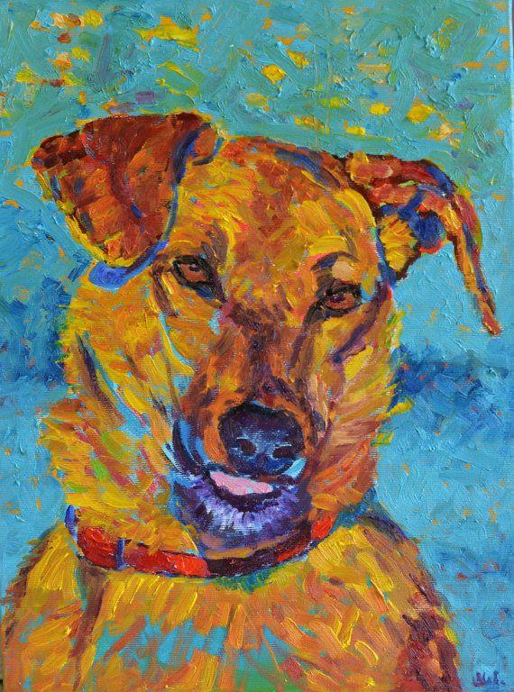 Dog art Animal painting Dog artwork Fine art by TanabeStudio