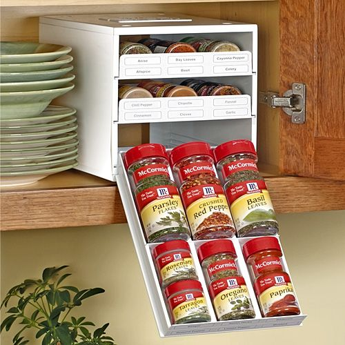 Kitchen Drawer Spice Organizers 15 best spice organizers and racks images on pinterest spice spicestack 18 bottle spice organizer with labels workwithnaturefo