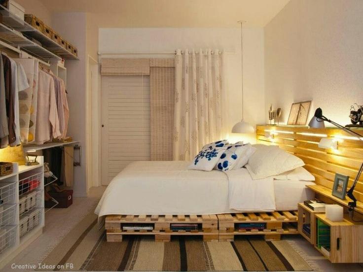 17 best images about bedroom design ideas on pinterest - Tete de lit planche de bois ...