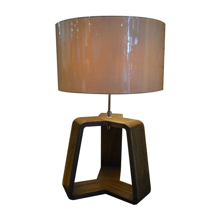 Lare Teak Table Lamp. With teak planks base,Lare Teak table lamp simply deliver natural impression. Add this perfect décorating lamp to your room.