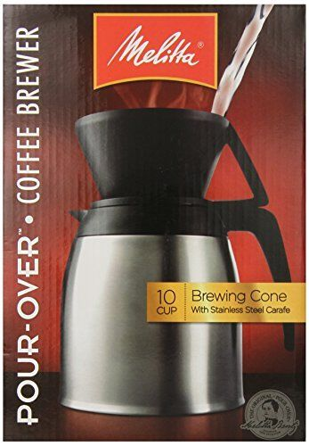 Melitta Coffee Maker 10 Cup Pour- Over Brewer with Stainless Thermal Carafe