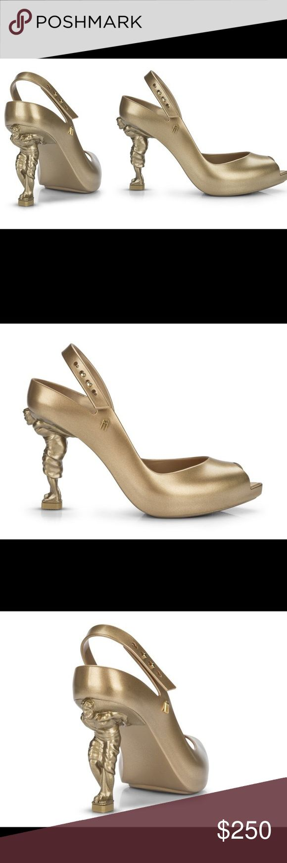 NEW Melissa+Sebastian Errazuriz gold digger shoes 100% authentic, without box. Brand new without tags, made in Brazil. Material: PVC Melissa Shoes Heels