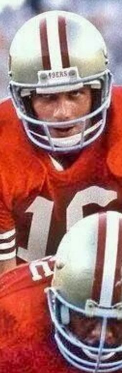 Joe Montana - This look told you right up front that he was planning on beating you - soundly.
