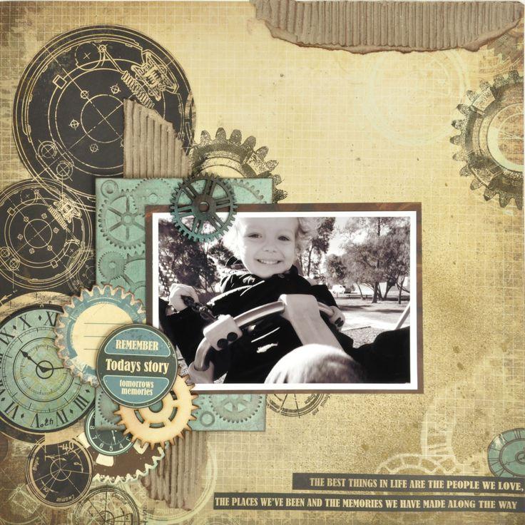 Kaisercraft - Time Machine Collection - Boy Grunge