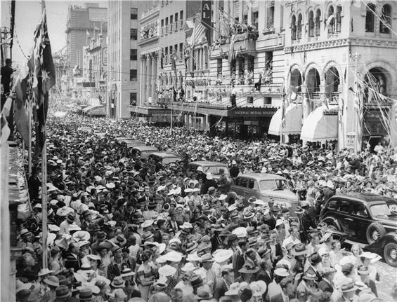 Arrival of US servicemen, Brisbane, 1941.
